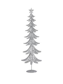 gisela-graham-white-amp-silver-glitter-tin-tree-ornament