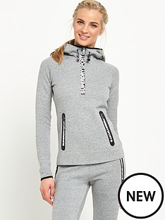 superdry-gym-tech-half-zip-hood-grey