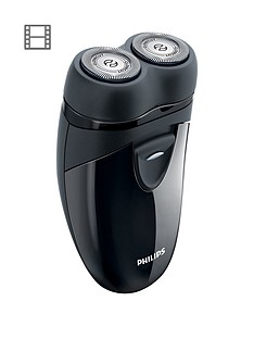 philips-travel-shaver-pq20317-with-twin-rotary-heads-and-travel-pouch