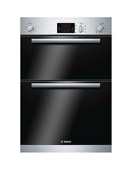 Bosch Series 6 60Cm Hbm13B151B Built In Double Oven  Brushed Steel