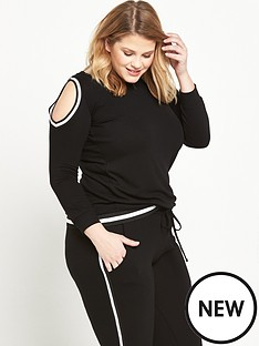 so-fabulous-cold-shoulder-jersey-sweat-black