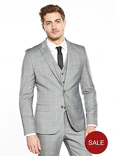 v-by-very-sli-fit-window-pane-check-suit-jacket