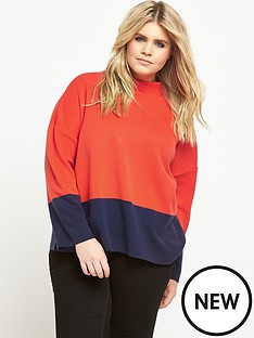 so-fabulous-colour-block-knit-jumper-navyorange
