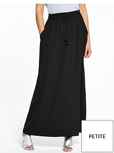 v-by-very-petite-tassel-crepe-maxi-skirt