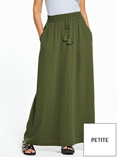 v-by-very-petite-tassel-crepe-maxi-skirt-khaki