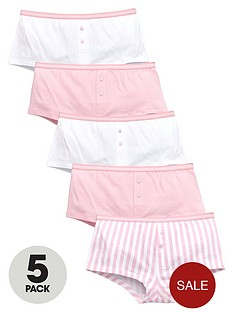 v-by-very-girls-candy-stripe-boyfriend-shorties-5-pack
