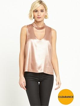 river-island-sleeveless-choker-top-rose-gold