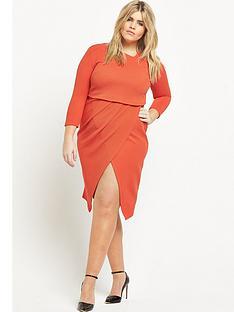 so-fabulous-asymmetric-2-in-1-textured-midi-dress-orange
