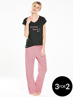 v-by-very-sleepy-head-polka-dot-pyjama-set