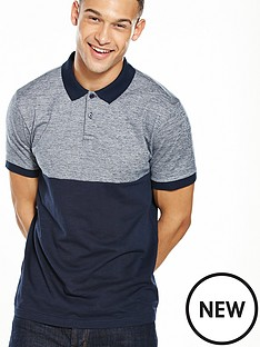 v-by-very-short-sleeve-block-panel-polo