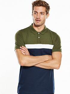 v-by-very-short-sleeve-pique-stripe-polo