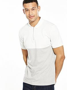 v-by-very-short-sleeve-zip-polo