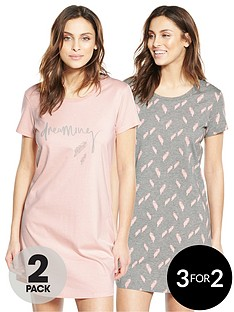 v-by-very-2-pack-feather-print-nightdresses