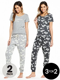 v-by-very-2-pack-floral-short-sleeve-pyjama-all-day-setnbsp