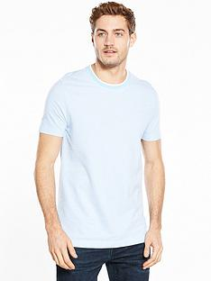 v-by-very-short-sleeve-tipped-pique-t-shirt