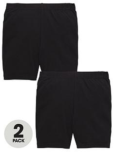 v-by-very-schoolwear-girls-school-cycling-shorts-black-2-pack