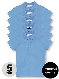 v-by-very-5-pack-girls-school-polo-shirts-blue