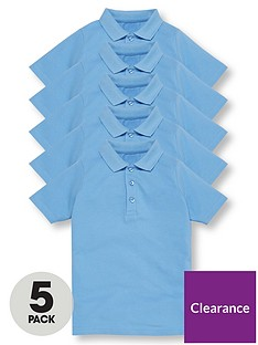 v-by-very-boys-5-pack-short-sleeve-school-polo-shirts-blue
