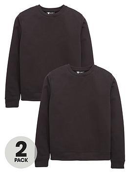 v-by-very-2-pack-crew-neck-school-sweatshirts