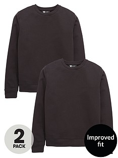 v-by-very-schoolwear-unisex-2pk-crew-neck-sweat