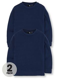 v-by-very-2-pack-crew-neck-school-sweatshirts-navy