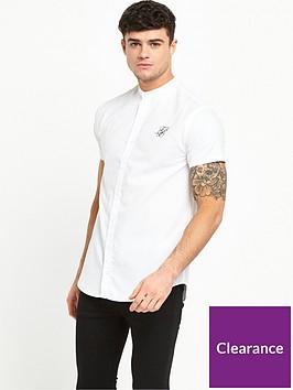 sik-silk-grandadnbspcollarnbspshort-sleeve-shirt
