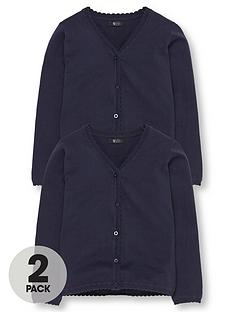 v-by-very-schoolwear-girls-school-cardigans-navy-2-pack