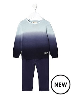 river-island-mini-mini-boys-dip-dye-jumper-and-chino-set