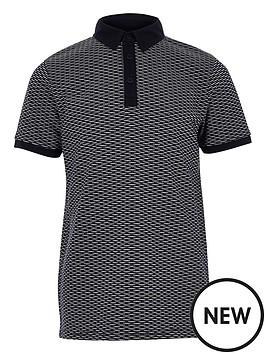river-island-boys-navy-jacquard-polo-shirt