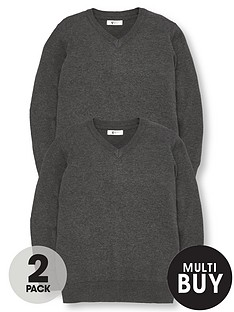 v-by-very-schoolwear-boys-v-neck-school-jumpers-charcoal-2-pack
