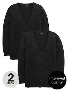 v-by-very-girls-2-pack-longline-cable-knit-school-cardigans