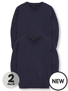 v-by-very-schoolwear-boys-pk2-v-neck-jumper