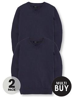 v-by-very-schoolwear-boys-v-neck-school-jumpers-navy-2-pack