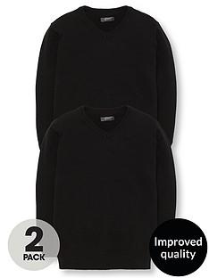 v-by-very-schoolwear-boys-v-neck-school-jumpers-black-2-pack