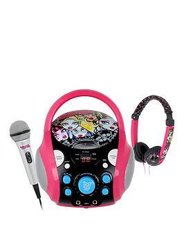 Monster High CdG Karaoke Machine With Monster High Headphones