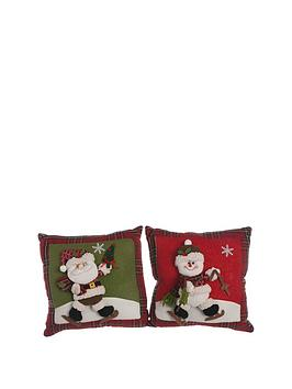 set-of-2-christmas-cushions
