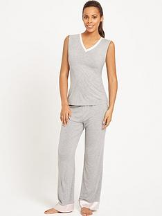 rochelle-humes-spot-trim-lounge-set-grey
