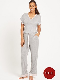 rochelle-humes-spot-trim-lounge-jumpsuit-grey