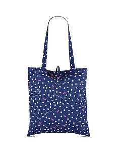 radley-vintage-dog-dot-foldaway-tote-bag