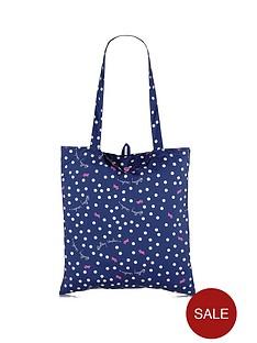radley-vintage-dog-dot-foldaway-tote-bag