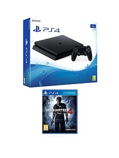 playstation-4-slim-1tb-black-console-with-uncharted-4-plus-optional-extra-dualshock-controller-andor-12-months-playstation-network