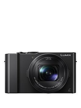 Panasonic Lumix DmcLx15 20.1 Megapixel 4K Ultra Hd Digital Camera 3X Optical Zoom 3 Lcd Tiltable Touch Screen  Black With Optional Accessory Kit