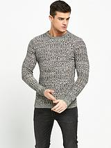 Knitted Ribbed Slim Fit Jumper
