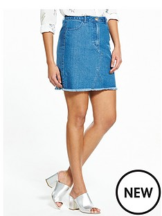 v-by-very-fray-hem-denim-a-line-mini-skirt