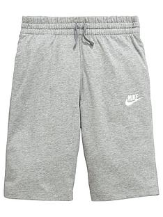 nike-older-boys-jersey-shorts-grey-heather
