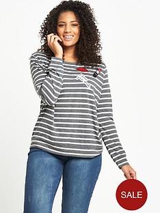 so-fabulous-stripe-badge-jersey-t-shirt-greyivorynbsp