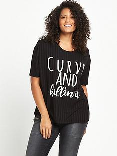so-fabulous-soft-rib-slogan-t-shirt-black