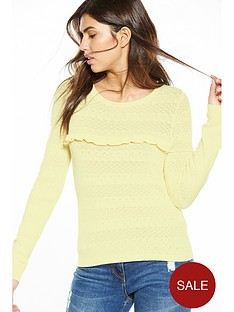 v-by-very-frill-front-pointellenbspknit-jumper