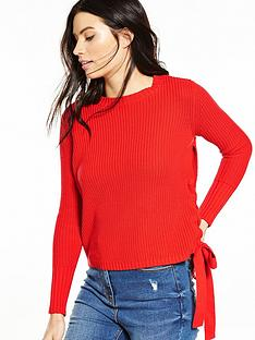 v-by-very-tie-side-crew-neck-jumper