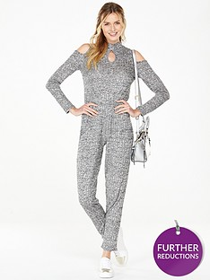 v-by-very-rib-cold-shoulder-jumpsuit